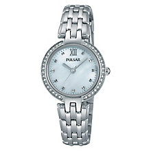 Pulsar Ladies' Stone Set Stainless Steel Bracelet Watch - Product number 3671135