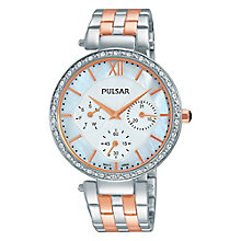 Pulsar Ladies' Two Colour Stainless Steel Bracelet Watch - Product number 3671178