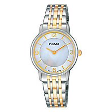Pulsar Ladies' Two Colour Stainless Steel Bracelet Watch - Product number 3671224