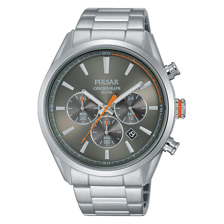 Pulsar Men's Chronograph Stainless Steel Bracelet Watch - Product number 3671240