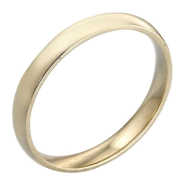 9ct Yellow Gold 3mm Extra Heavy D Shape Ring - Product number 3671380