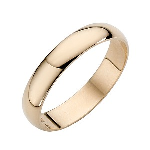 9ct yellow gold 4mm extra heavy d shape ring hsamuel