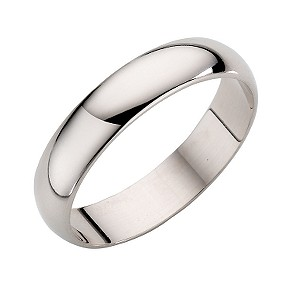 9ct White Gold Extra Heavy Weight D Court Ring