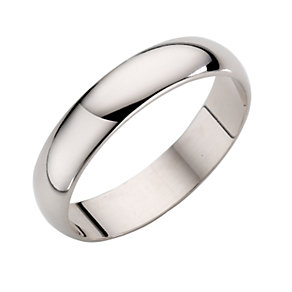 9ct White Gold Extra Heavy Weight D Shape Ring - Product number 3671429