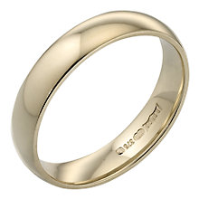 9ct Yellow Gold 4mm Extra Heavy Court Ring - Product number 3671461