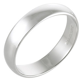 9ct White Gold Wedding 5mm Ring - Product number 3671550