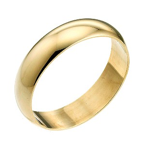 9ct Yellow Gold Extra Heavyweight 6mm Wedding Ring