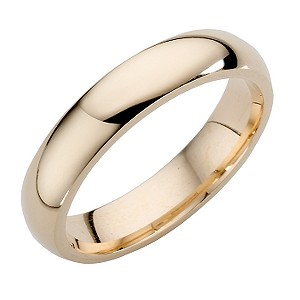 9ct Yellow Gold Superweight Court Ring