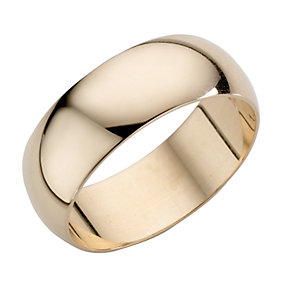 9ct Yellow Gold Extra Heavyweight D Shape Ring - Product number 3671593