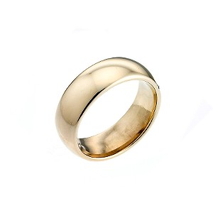 9ct Yellow Gold Super Weight 7mm Court Wedding Ring