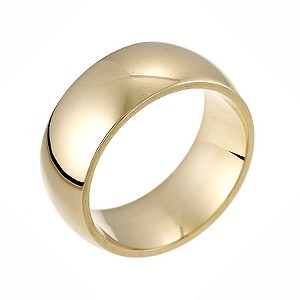 9ct Yellow Gold Super Heavy Weight Court Ring