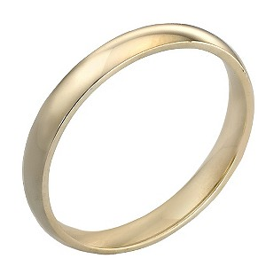 18ct Gold 3mm Court Wedding Ring