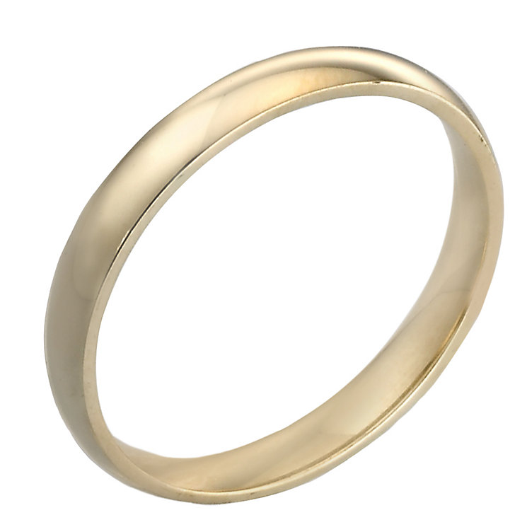 18ct Gold 3mm Court Wedding Ring - Product number 3672085
