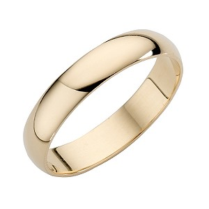 18ct Yellow Gold Extra Heavyweight Wedding 4mm Ring