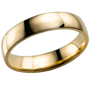 18ct Gold Extra Heavy Weight Wedding 4mm Ring