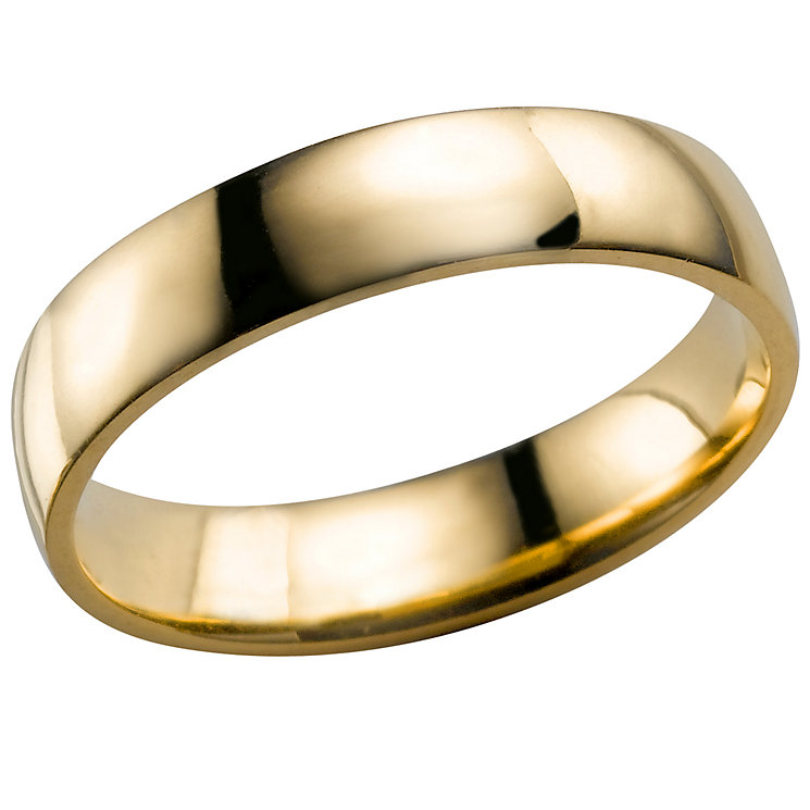 18ct Yellow Gold 4mm Extra Heavy Court Ring - Product number 3672182