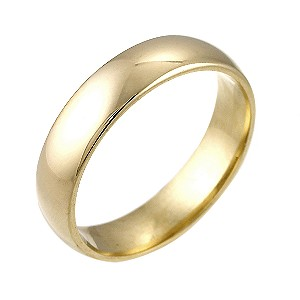18ct Yellow Gold Extra Heavyweight Wedding 5mm Ring