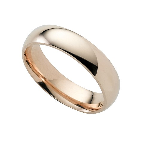 9ct gold super heavy 5mm court ring