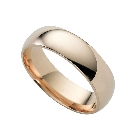 9ct gold super heavy 6mm court ring