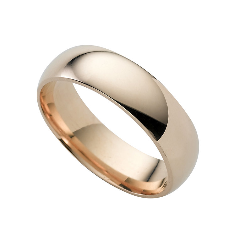 9ct gold super heavy 6mm court ring - Product number 3672670