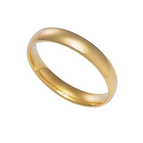 18ct gold extra heavy 3mm court ring