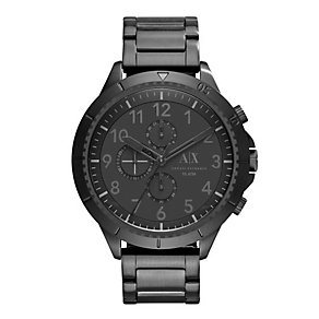 Armani Exchange Men's Black Ion-Plated Bracelet Watch - Product number 3673812