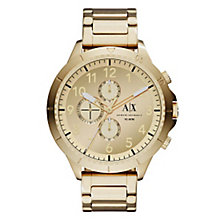 Armani Exchange Men's Gold Dial Gold-Plated Bracelet Watch - Product number 3673871
