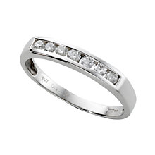 18ct white gold 0.25ct diamond half-eternity ring - Product number 3675424