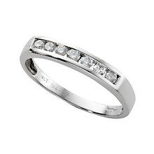 18ct white gold quarter carat diamond half-eternity ring - Product number 3675424