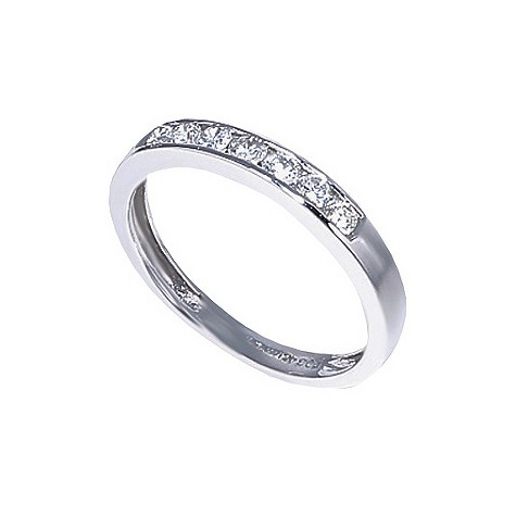 18ct white gold third carat diamond half-eternity ring