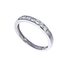 18ct white gold third carat diamond half-eternity ring - Product number 3675440