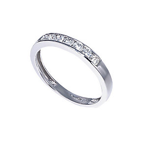 18ct white gold third carat diamond half-eternity ring - Product number 3675440