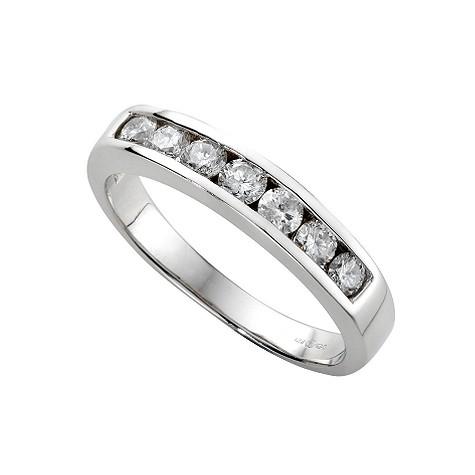 18ct white gold half carat diamond half-eternity ring