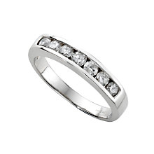 18ct white gold half carat diamond half-eternity ring - Product number 3675459