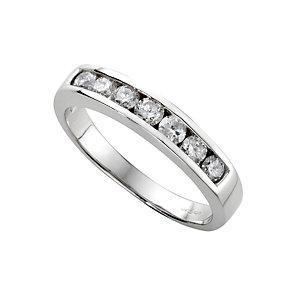 18ct white gold half carat diamond half-eternity ring - Product number 3675459