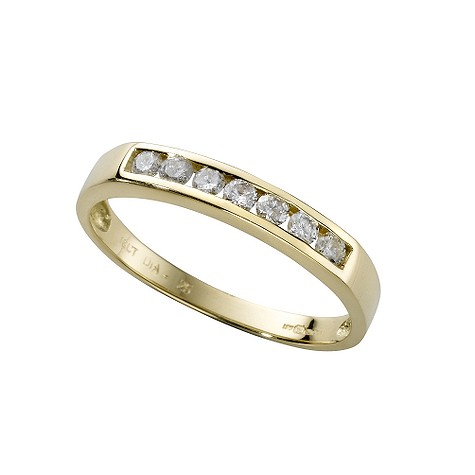 18ct gold quarter carat diamond half-eternity ring