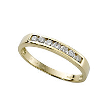 18ct gold quarter carat diamond half-eternity ring - Product number 3678105