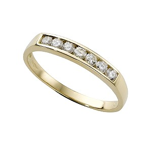 18ct gold third carat diamond half-eternity ring - Product number 3678113