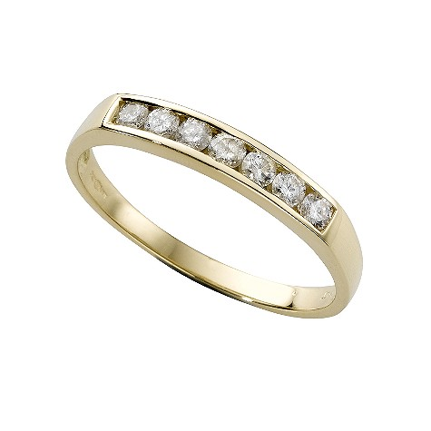 18ct gold third carat diamond half-eternity ring