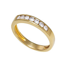 18ct gold 0.50ct diamond half-eternity ring - Product number 3678121