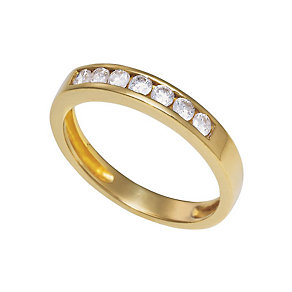 18ct gold half carat diamond half-eternity ring - Product number 3678121