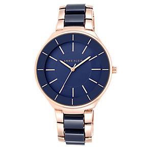 Anne Klein Ladies' Stone Set Grey Strap Watch - Product number 3690385
