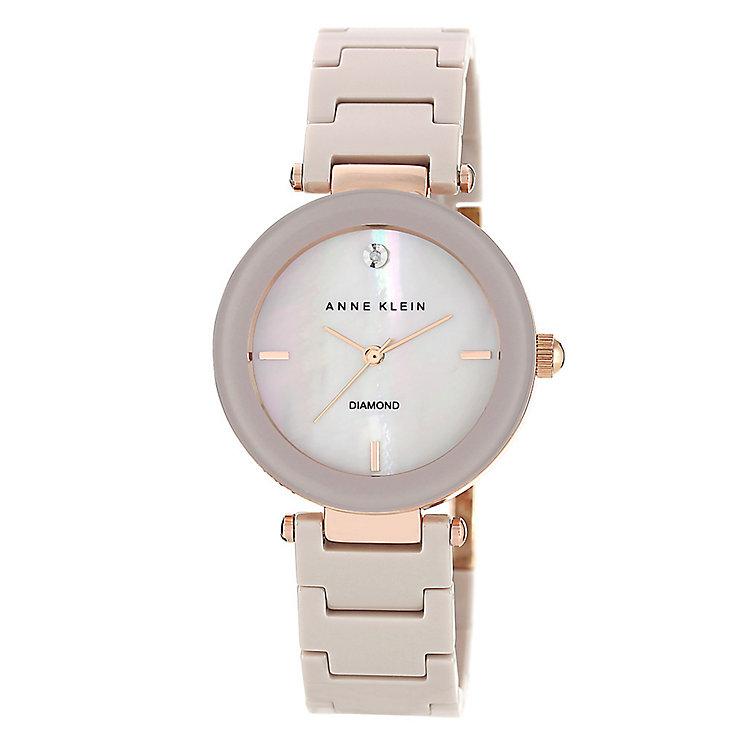 Anne Klein Ladies' Diamond Set Ceramic Bracelet Watch - Product number 3690415