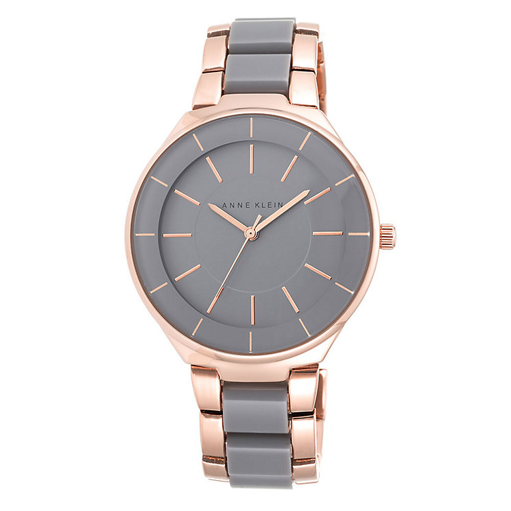 Anne Klein Ladies' Grey Dial Two Colour Bracelet Watch - Product number 3690423