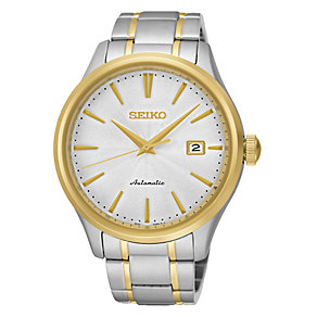 Seiko Men's Automatic Two Colour Steel Bracelet Watch - Product number 3690717