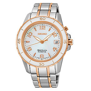 Seiko Sportura Kinetic Ladies' Two Colour Bracelet Watch - Product number 3690741