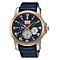 Seiko Premier Kinetic Perpetual Men's Leather Strap Watch - Product number 3690849