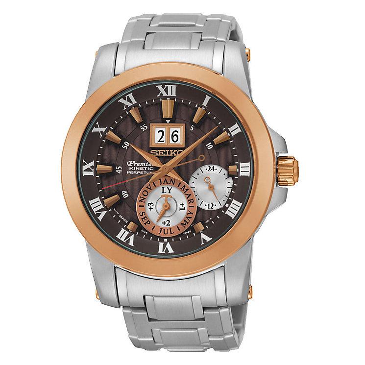 Seiko Premier Kinetic Perpetual Men's Steel Bracelet Watch - Product number 3690865