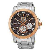Seiko Premier Kinetic Perpetual Men's Steel Bracelet Watch - Product number 3690865