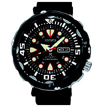Seiko Prospex Men's Diver's Black Silicone Strap Watch - Product number 3690903